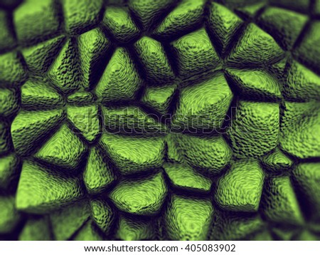 Abstract organic macro texture.3D rendering  - stock photo