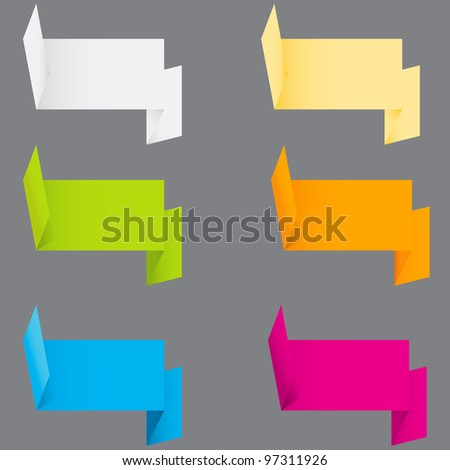 Abstract origami speech bubble background. Raster version.