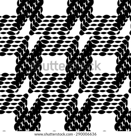 Abstract Ornament on White Background. Abstract Ornamental Pattern