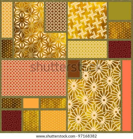 abstract ornamental patchwork background