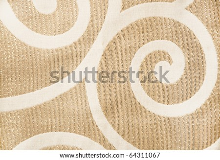 Abstract Ornamental Texture, yellow/gold pattern with small glitters - stock photo