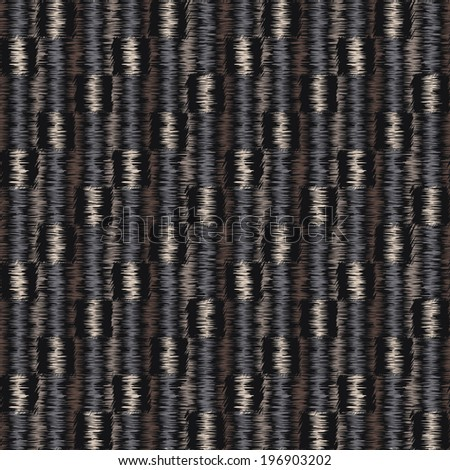 Abstract ornate embroidery threads striped textured fabric background. Seamless pattern.