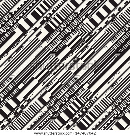 Abstract ornate textured striped background. Seamless pattern.  - stock photo