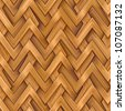 Abstract ornate wooden textured herringbone  weaving background. Seamless tiling. Illustration. - stock photo
