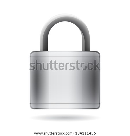 abstract padlock isolated
