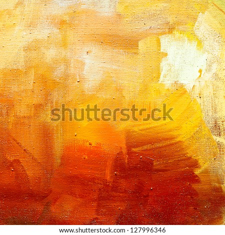 abstract pained canvas