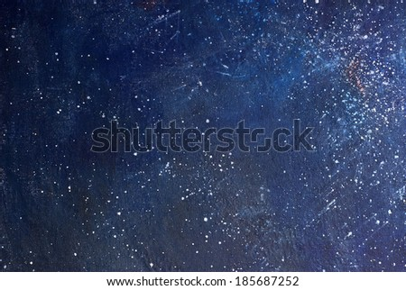 Abstract painted blue background with grunge texture - stock photo