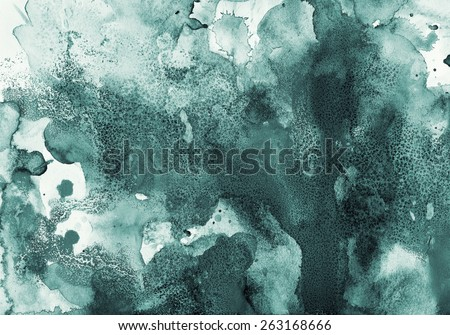 Abstract painted ink and watercolor background - stock photo