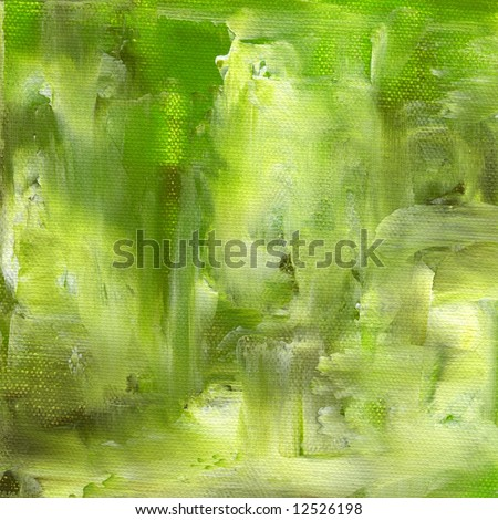 Abstract painted textured background in green color. Art is created and painted by photographer. - stock photo