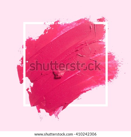 Abstract painted textured red brush background - stock photo
