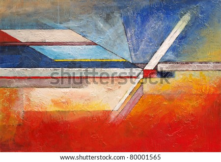Abstract painting by Clive Watts - eoa #11 - stock photo