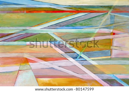 Abstract painting by Clive Watts - eoa #7 - stock photo