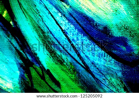 Abstract painting by oil on canvas, illustration, background - stock photo