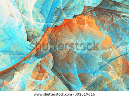 Abstract painting color texture. Bright artistic background. Modern futuristic pattern. Fractal artwork for creative graphic design - stock photo