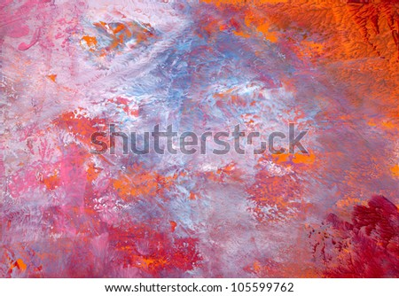 Abstract painting, for backgrounds or textures - stock photo