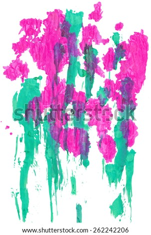 abstract painting mixed technique background - stock photo