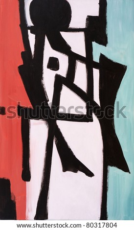 Abstract painting - Skid - stock photo