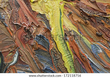 Abstract paintings of different colors embossed decoration - stock photo