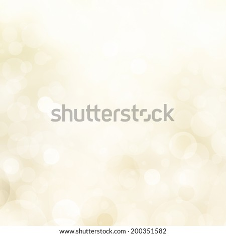 abstract pale yellow background white glitter lights, round shapes in geometric circle background, sparkling fantasy dream background, bright white festive bubble background, blurred bokeh lights - stock photo