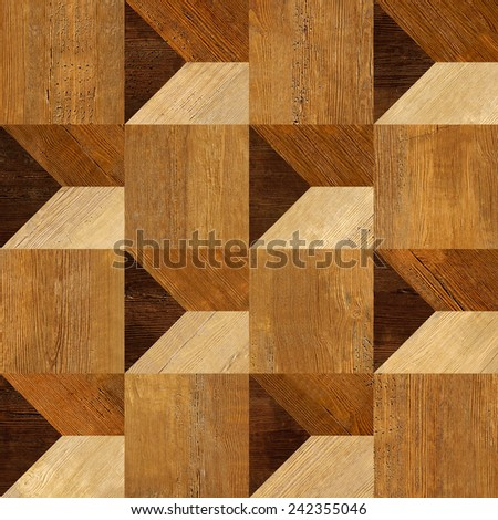 Abstract paneling pattern - 3D paneling - Abstract decorative panels - Interior wall decoration - wall decorative tiles - seamless background - wood texture - wood veneer - rustic style - stock photo