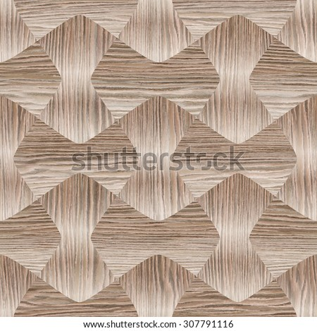 Abstract paneling pattern pattern - seamless background - Blasted Oak Groove wood texture - stock photo