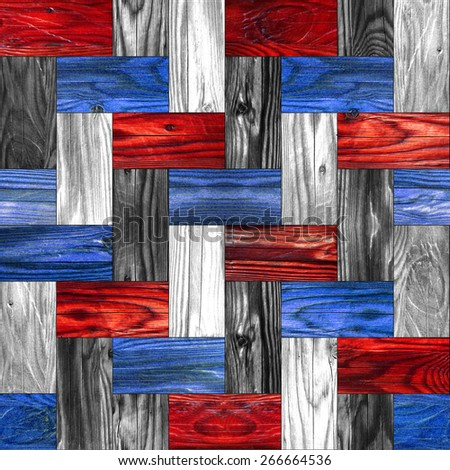 Abstract paneling pattern - seamless background - american national colors - stock photo