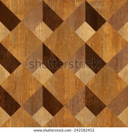 Abstract paneling pattern - seamless pattern - parquet flooring - stock photo