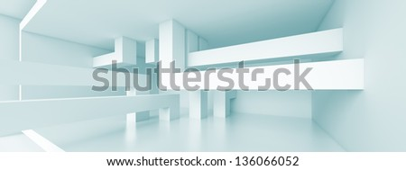 Abstract Panoramic Interior Background - stock photo