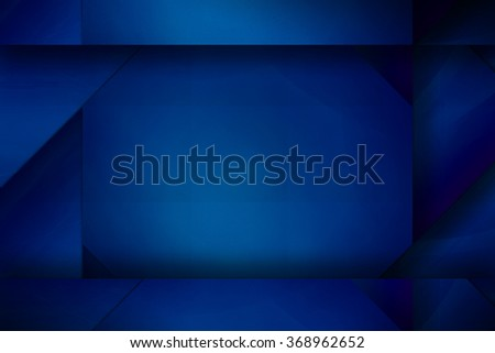Abstract paper origami blue background for technology, business, computer or electronics products. Illustration for artwork and posters. - stock photo