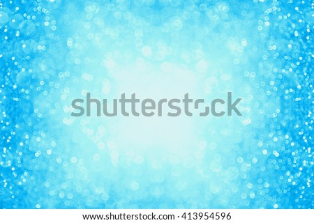 Abstract pastel blue glitter sparkle background confetti party invitation or poster - stock photo