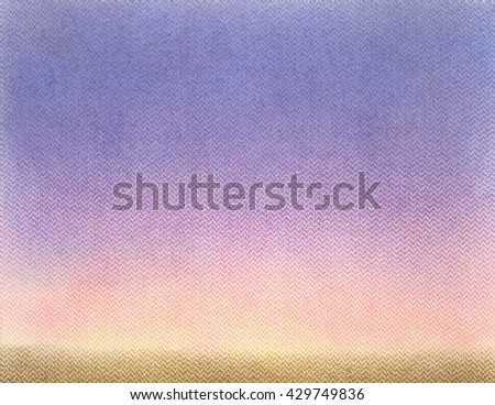 abstract pastel color painting on rough paper - stock photo