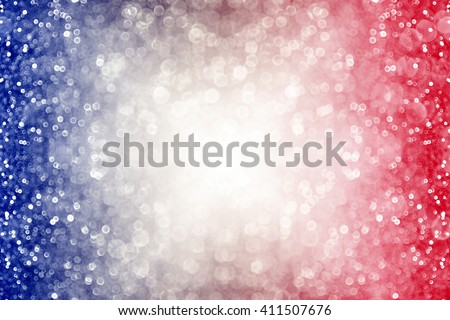 Abstract patriotic red white and blue glitter sparkle burst background - stock photo