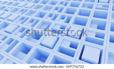 abstract pattern based background made of randomly rotated cubes with inner structure