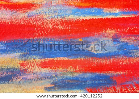 Abstract pattern colored paint on concrete wall - stock photo
