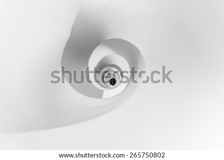 abstract pattern formed by a spiral staircase