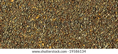 Abstract pattern of colored gravel