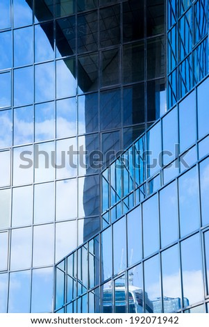 Abstract Pattern of office Glass , London, England, UK  - stock photo
