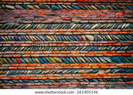 Abstract pebbles mosaic - stock photo
