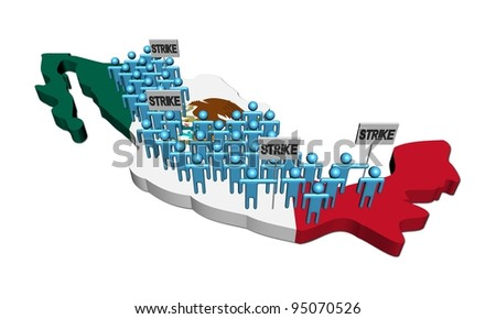 abstract people in colors of Irish flag illustration - stock photo