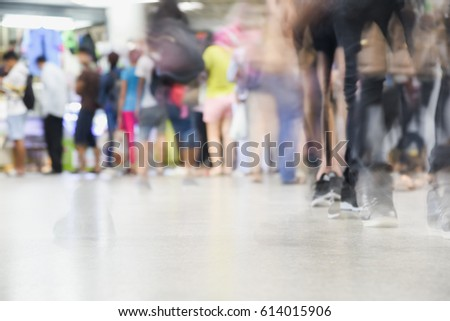 abstract people motion move blurred,passenger walk at Bus terminal or subway station