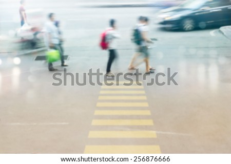 abstract people street walk in the city, pastel and blur concept