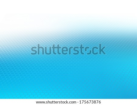 Abstract perspective faded cool blue hexagon design background .jpg template for various websites, artworks, graphics, cards, banners, ads and much more. Plenty of space for text.  - stock photo