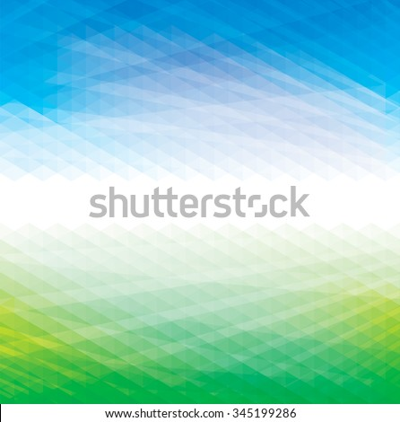 Abstract perspective geometric blue and green background.  - stock photo