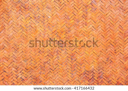 abstract photo of grunge old traditional thai style pattern nature  background or brown handicraft weave texture wicker surface. - stock photo