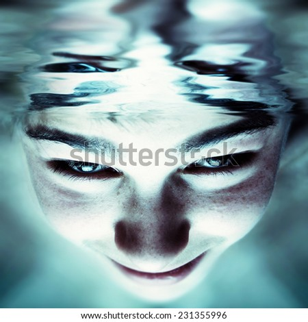 Abstract Photo of the Young Person Face - stock photo