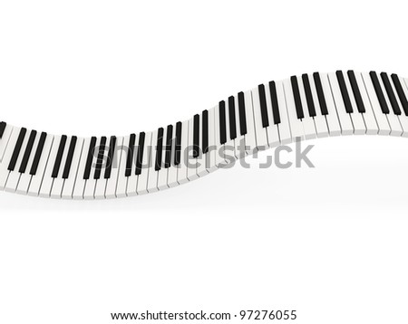 Abstract Piano Keys on white background - stock photo