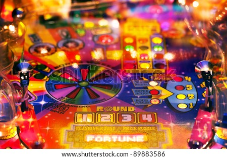 Abstract pinball background - stock photo