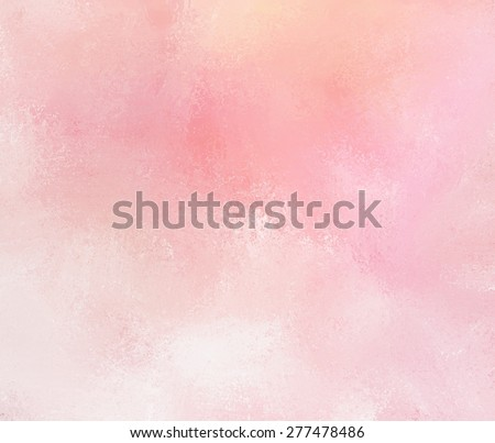 abstract pink background with faded white grunge brush strokes. Rough distressed texture on pale pink background with yellowed color tone. - stock photo