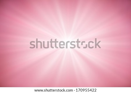 Abstract pink background with rays of light - stock photo