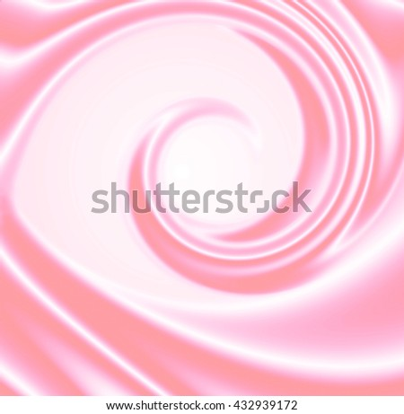Abstract pink background with spirals. Abstract wave of pink silk. - stock photo